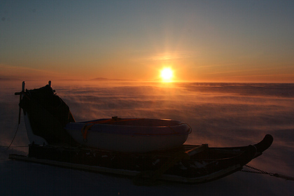 Sunset at Scoresby Sund , image by Nanu Travel