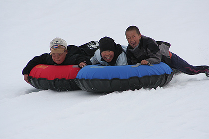 Snow tubes ,  image by Nanu Travel